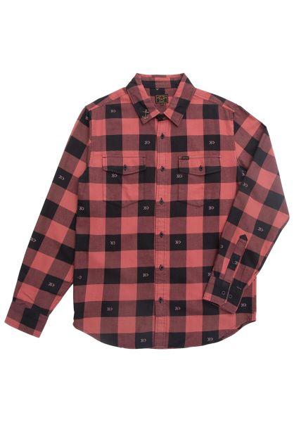 Dark Seas Hemden langarm Bilge black-red vorderansicht 0411906
