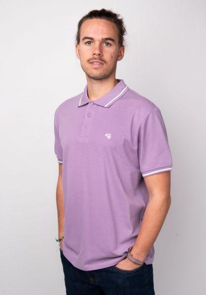 TITUS Polo-Shirts Johann violet-white vorderansicht 0138341