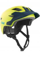 TSG Kinder-Helme Cadete Solid Color satin acid yellow-blue Vorderansicht