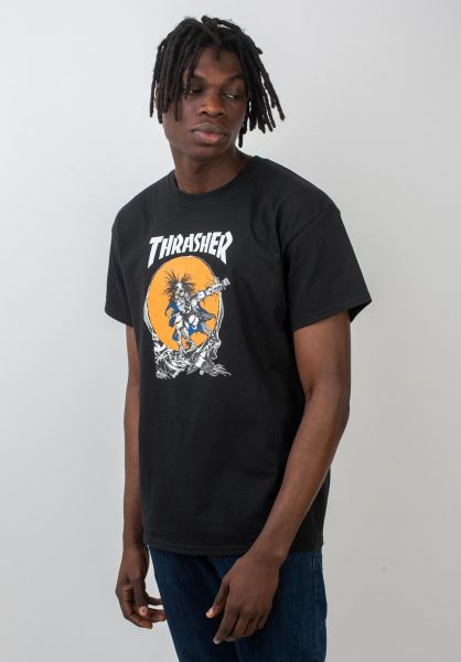 Thrasher T-Shirts Skate Outlaw black vorderansicht 0036766