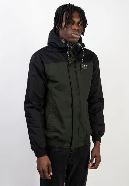 iriedaily Winterjacken Eissegler Jacket black-olive vorderansicht 0230175