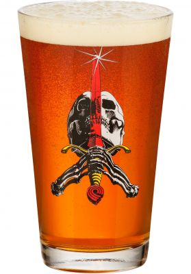 Powell-Peralta Skull & Sword Pint Glass