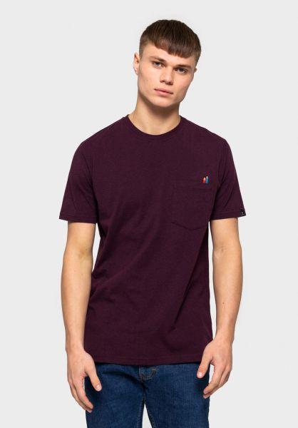 RVLT T-Shirts 1137 Cra bordeaux vorderansicht 0321074