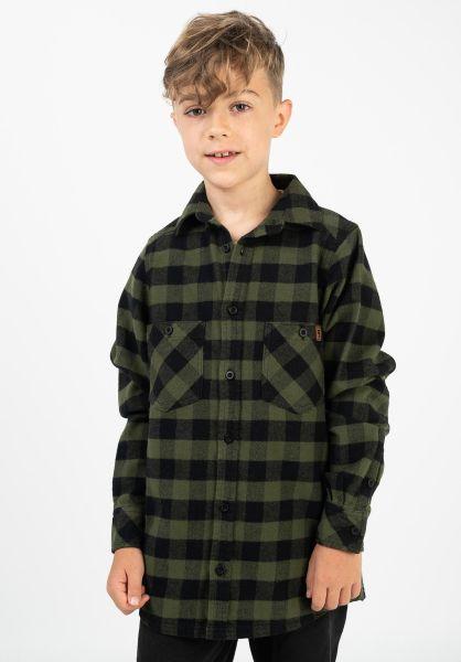 TITUS Hemden Adam Kids olive-checked vorderansicht 0411385