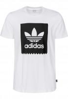 adidas-skateboarding T-Shirts Solid Blackbird white-black Vorderansicht