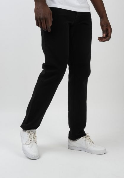 Carhartt WIP Jeans Klondike Pant blackrinsed vorderansicht 0269056