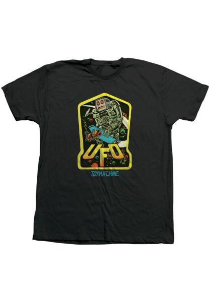Toy-Machine T-Shirts Ufo black vorderansicht 0322050