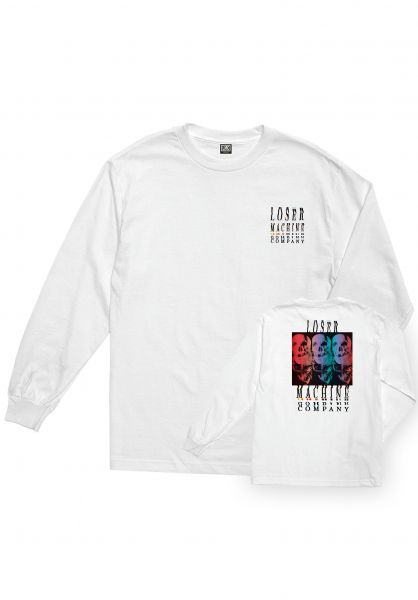 Loser-Machine Longsleeves Color Code white vorderansicht 0383112