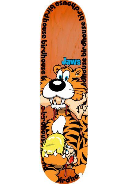 Birdhouse Skateboard Decks Jaws Tiger orange vorderansicht 0263306