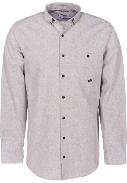 Reell Hemden langarm Melange grey vorderansicht 0411837