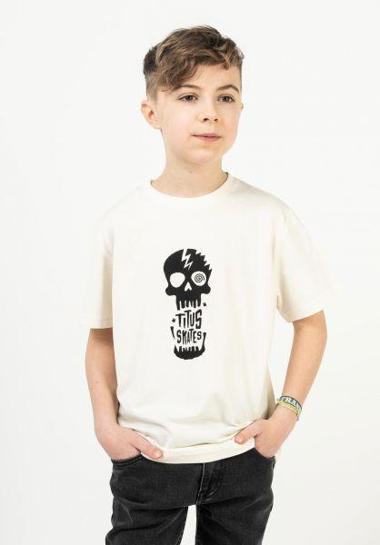 TITUS T-Shirts Tamaro Kids offwhite vorderansicht 0321017