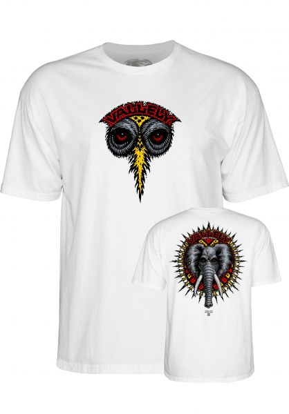 Powell-Peralta T-Shirts Vallely Elephant white Vorderansicht