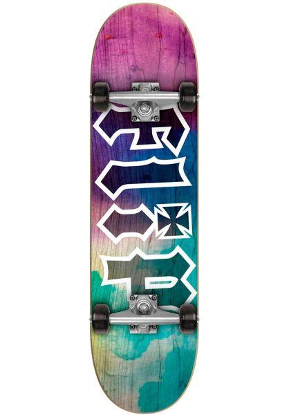 Flip Skateboard komplett HKD Tie Dye purple Vorderansicht 0161608