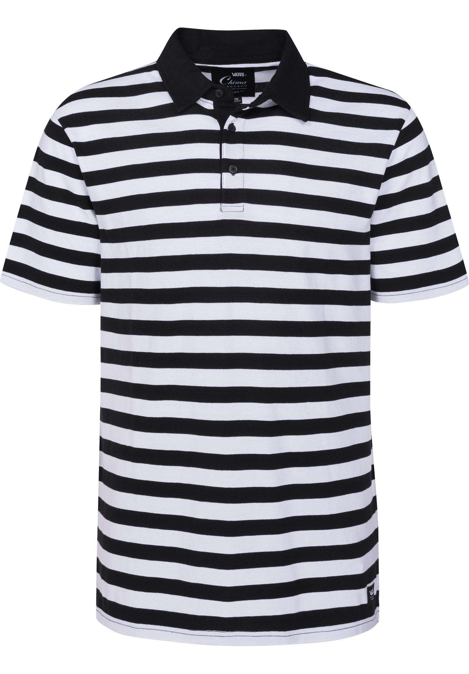 799c955455 Chima Striped Polo Vans Polo Shirts in black-white for Men