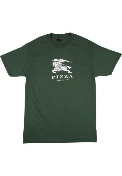 Pizza Skateboards T-Shirts Berry forestgreen vorderansicht 0323648