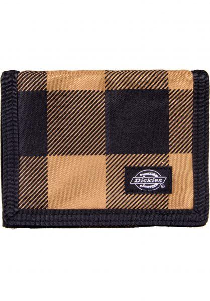 Dickies Promoartikel Gratis Crescent Bay Wallet brownduck-check vorderansicht 0972338
