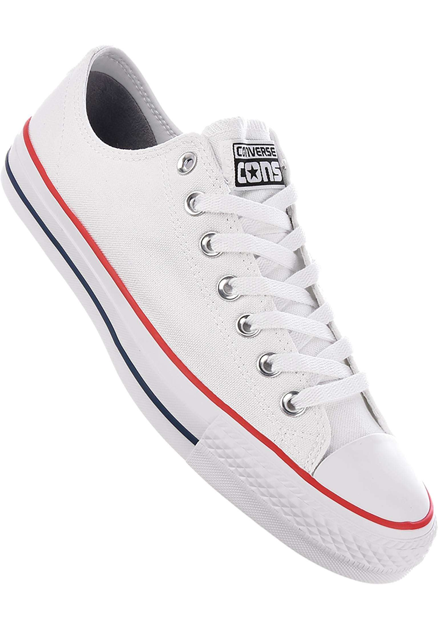 9d83eace41ed CTAS Pro OX Converse CONS All Shoes in white-white for Men