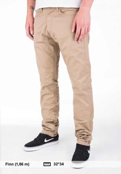 Carhartt WIP Jeans Vicious Pant (Lamar) leather-rinsed Vorderansicht