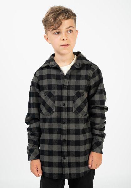 TITUS Hemden Adam Kids black-grey-checked vorderansicht 0411385