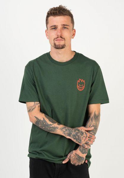 Spitfire T-Shirts Lil Bighead forrestgreen-red vorderansicht 0383203