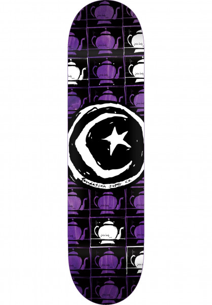 Foundation Skateboard Decks Star & Moon Teapot Repeat natural Vorderansicht