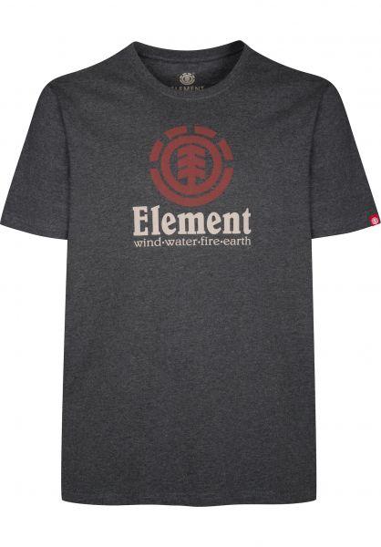 Element T-Shirts Vertical charcoalheather Vorderansicht