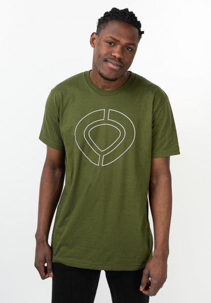 C1RCA T-Shirts Icon Track militarygreen vorderansicht 0321654