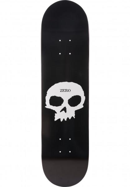 Zero Skateboard Decks Single Skull R7 black Vorderansicht