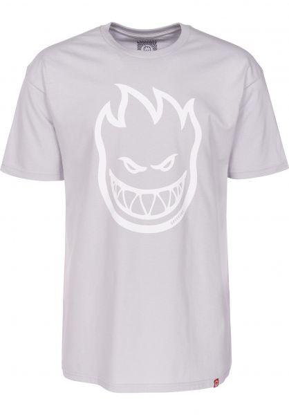 Spitfire T-Shirts Bighead silver-white Vorderansicht