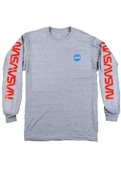 Habitat Longsleeves x NASA Worm Repeat grey vorderansicht 0383479