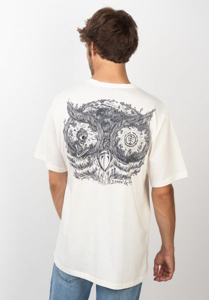 Element T-Shirts Timber In The Owl offwhite vorderansicht 0320507
