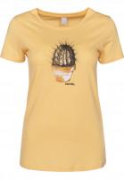 iriedaily T-Shirts Spikey yellow Vorderansicht