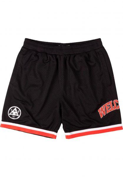 Welcome Sweatshorts League Mesh Basketball Shorts black-coral vorderansicht 0282026
