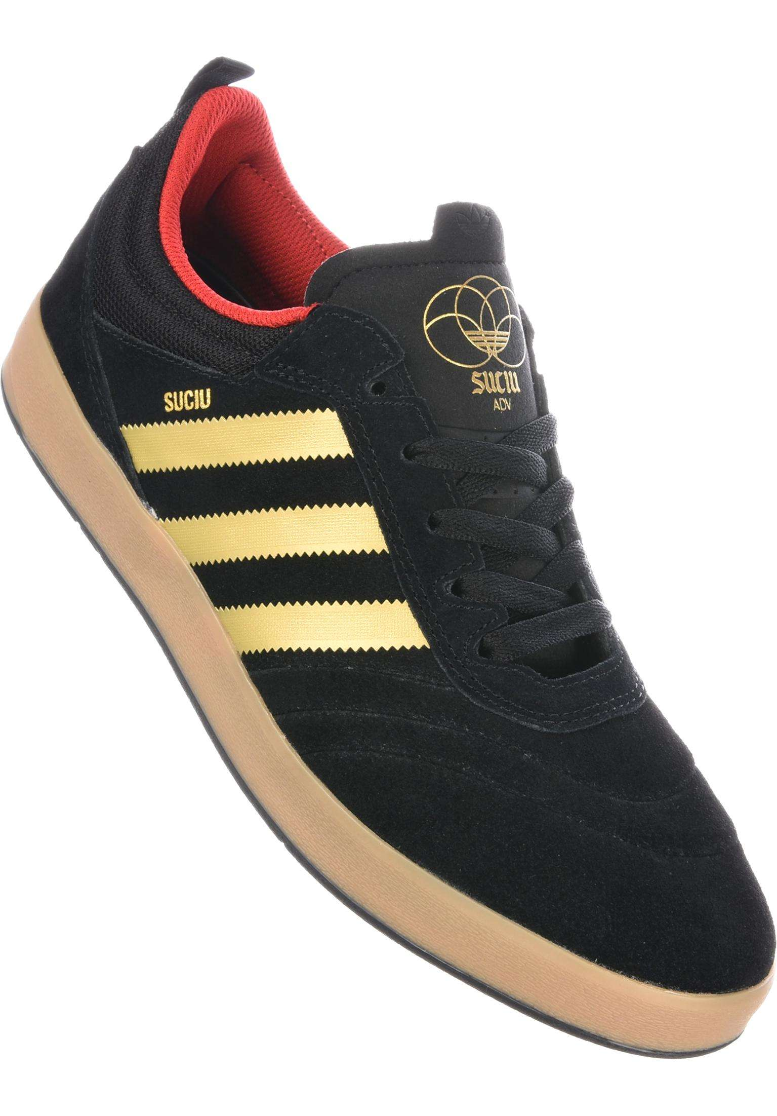 30b86e7edbe Suciu ADV adidas-skateboarding All Shoes in black-gold-gum for Men ...
