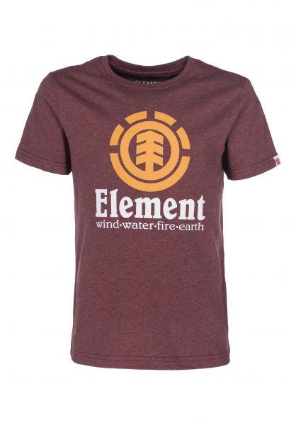 Element T-Shirts Vertical Kids oxbloodheather Vorderansicht