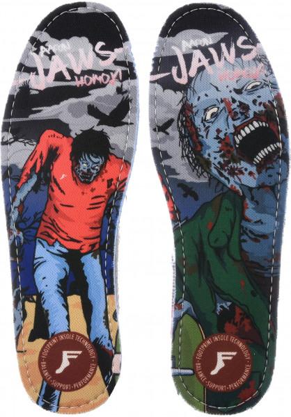 Footprint Insoles Einlegesohlen Kingfoam Hi Profile Jaws Zombie multicolored Vorderansicht