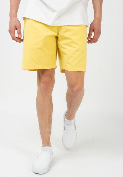 Vans Sweatshorts Range Short 18 yellow-cream vorderansicht 0279034