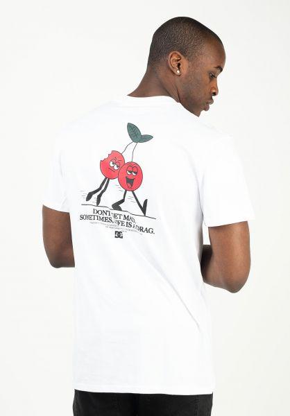 DC Shoes T-Shirts Dont Get Mad white vorderansicht 0323300