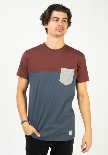 iriedaily T-Shirts Block Pocket darkrum vorderansicht 0394022