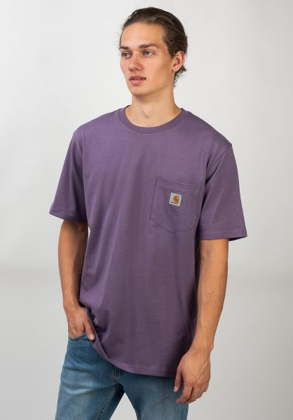 Carhartt WIP T-Shirts Pocket dustymauve vorderansicht 0393365