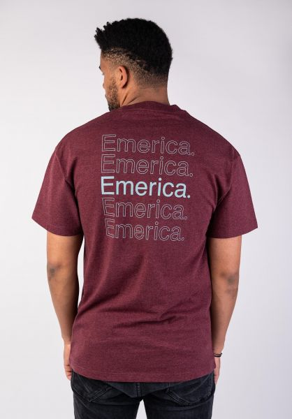 Emerica T-Shirts New Stack burgundy vorderansicht 0320013