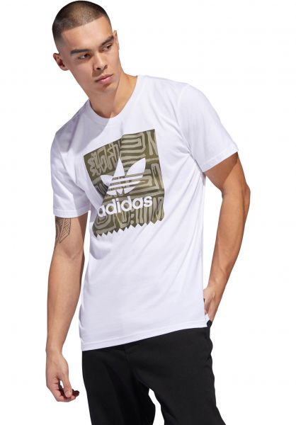 adidas-skateboarding T-Shirts Dakari BB white-rawkhaki vorderansicht 0320225