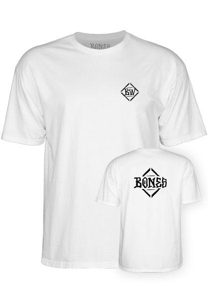 Bones Wheels T-Shirts Diamond white vorderansicht 0321090