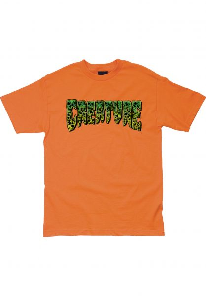 Creature T-Shirts Catacomb orange vorderansicht 0322815