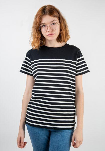 Forvert T-Shirts Paula black-striped vorderansicht 0320106