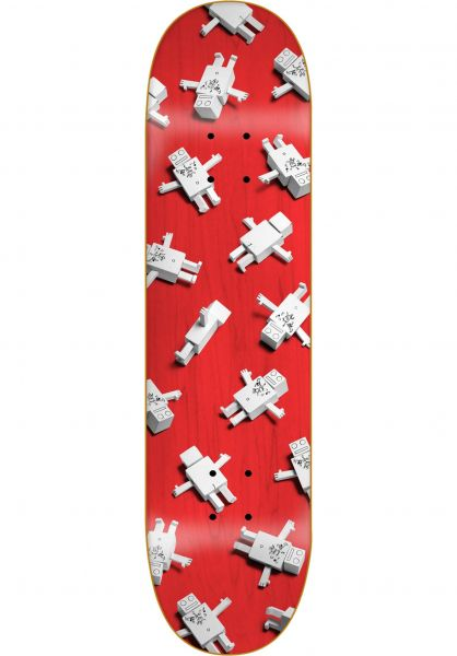 ROBOTRON Skateboard Decks Multitron red vorderansicht 0263514