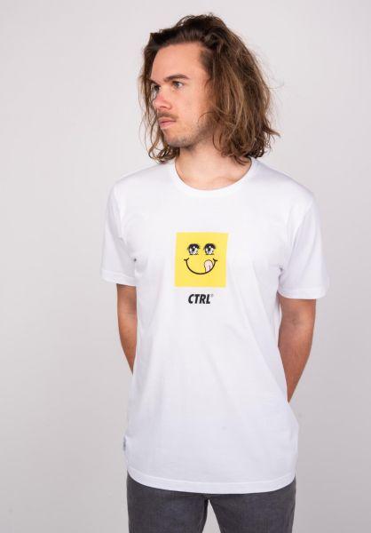 Makia T-Shirts Squarey white vorderansicht 0383354