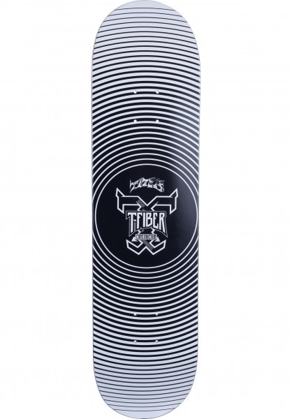 TITUS Skateboard Decks Vertigo T-Fiber High Concave black-white Vorderansicht