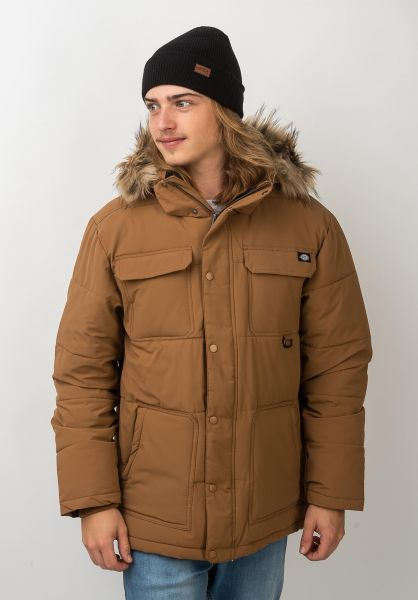 Dickies Winterjacken Manitou brownduck vorderansicht 0250080