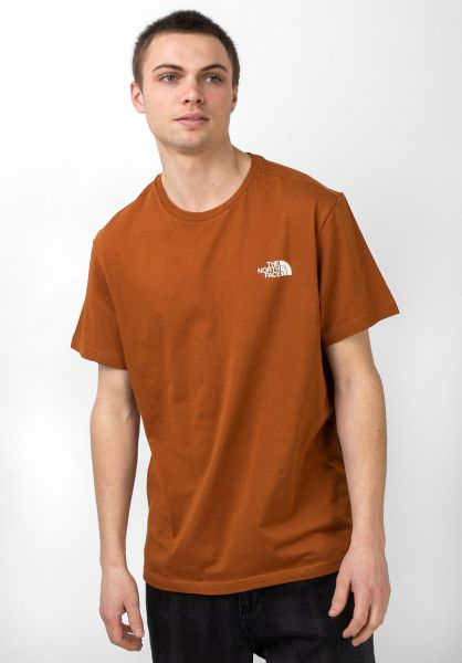 The North Face T-Shirts Simple Dom caramelcafe vorderansicht 0321496
